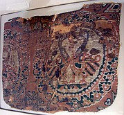 Textile fragment with ducks in roundels