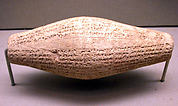 Cuneiform cylinder with inscription of Nebuchadnezzar II, describing the rebuilding of Ebabbar, the temple of the sun-god Shamash at Sippar