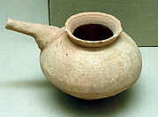Jar with a drooping spout
