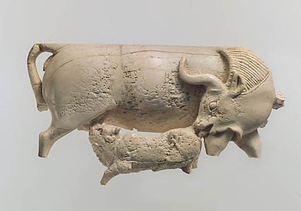 Openwork plaque with a cow and a suckling calf