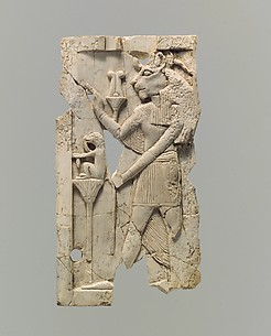 Plaque with Egyptian goddess Sakhmet