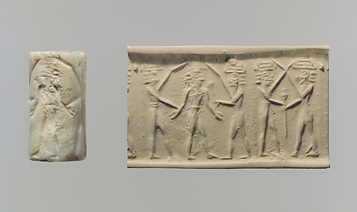 Cylinder seal: battle of the gods