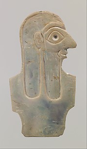 Inlay depicting male torso