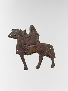 Plaque depicting a horse and rider