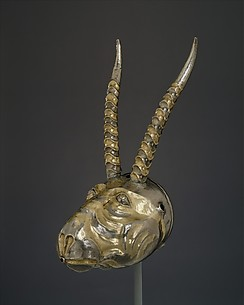 Rhyton in the form of a Saiga antelope head