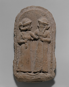 Molded plaque: couple