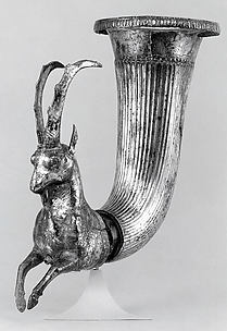 Rhyton terminating in the forepart of a wild goat