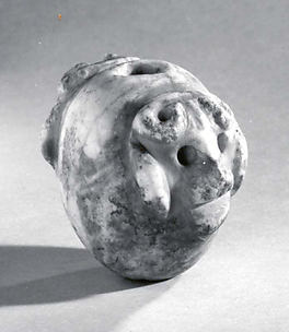 Mace head with two bull's heads