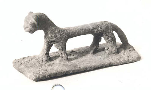 Figurine of a dog (?)
