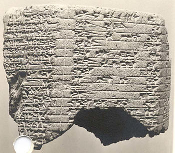 Cuneiform prism: inscription of Esarhaddon