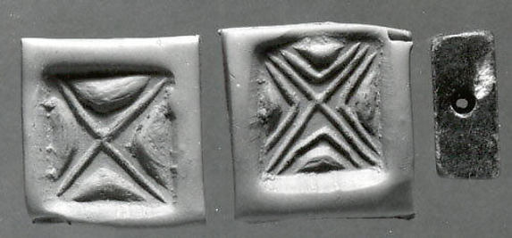 Rectangular plaque seal, engraved on two faces