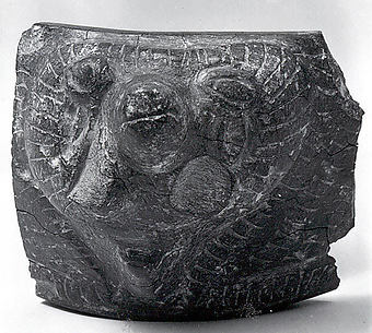 Bowl fragment with the head of a ram