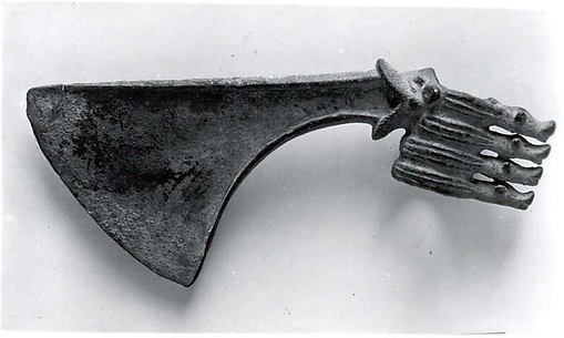 Spiked axe head