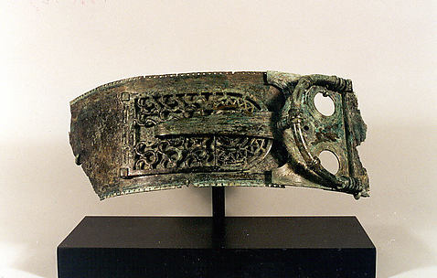 Belt fragment with a buckle