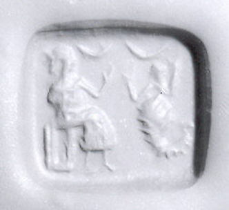 Rectangular plaque seal with stepped pyramidal back