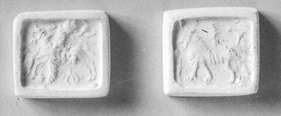 Rectangular prism seal, engraved on four faces