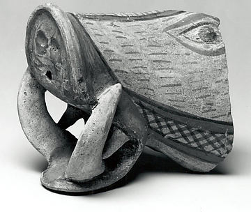Vessel fragment in the form of a boar's head