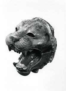 Head of a roaring lion