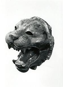 Head of a roaring lion