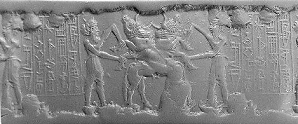 Cylinder seal: contest scene