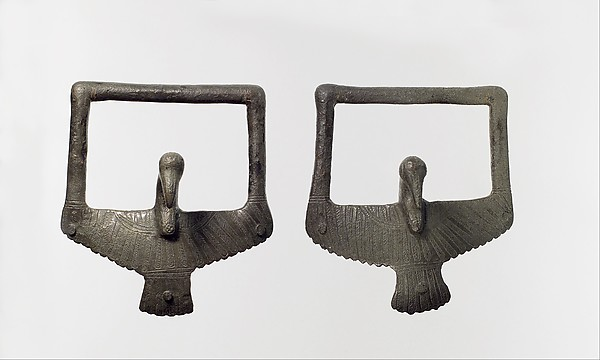 Pair of bird-shaped handles