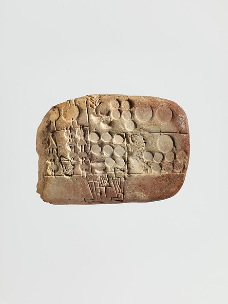 Cuneiform tablet: administrative account concerning the distribution of barley and emmer