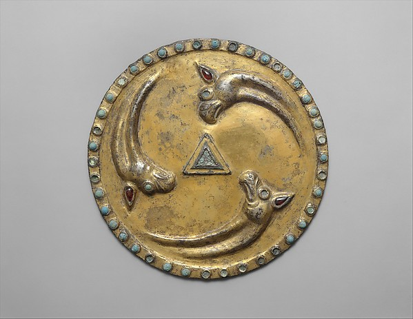 Roundel with griffin heads