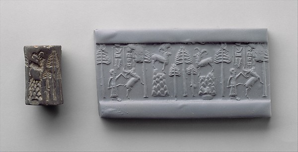 Cylinder seal: hunting scene