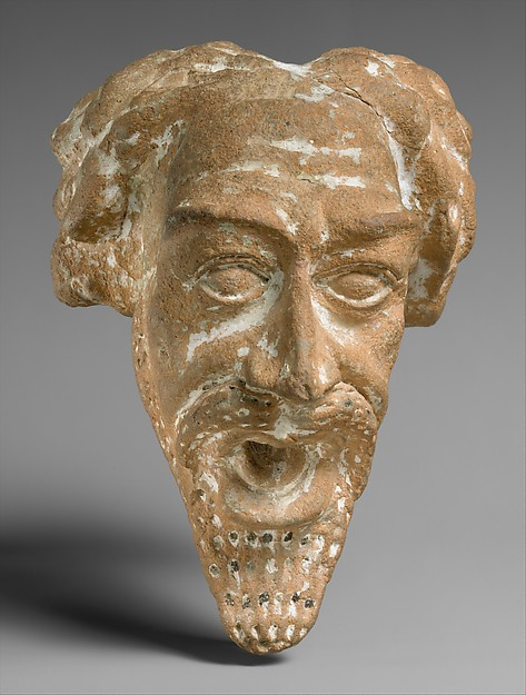 Spout in the form of a man&#39;s head