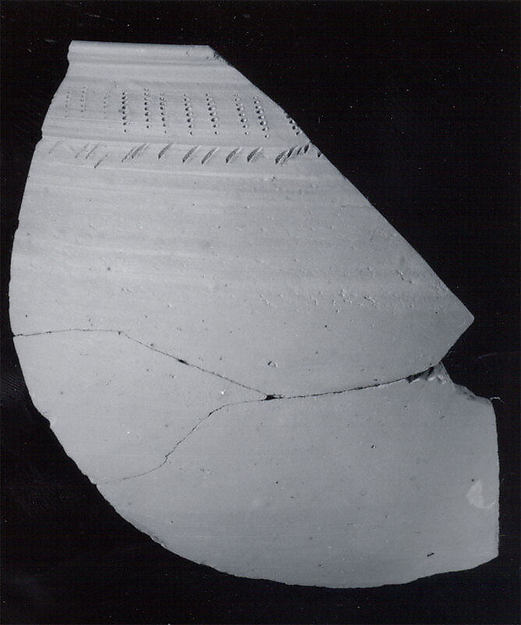Bowl rim sherd with incised decoration