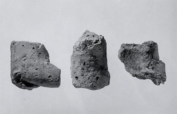 Fragments of animal figurines