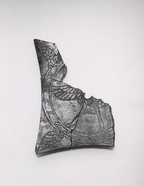 Plaque fragment with an incised ostrich