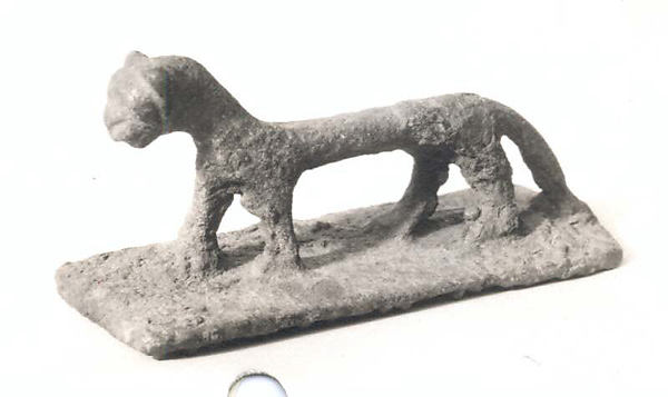 Figurine of a dog (?)