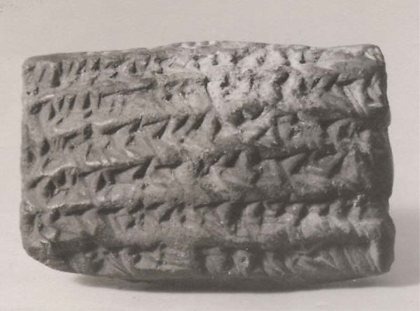 Cuneiform tablet: declaration before witnesses, archive of Iddin-Nabu and Shellebi