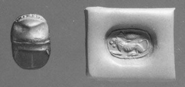 Scarab stamp seal
