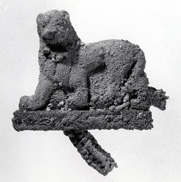 Pendant in the shape of a striding lion