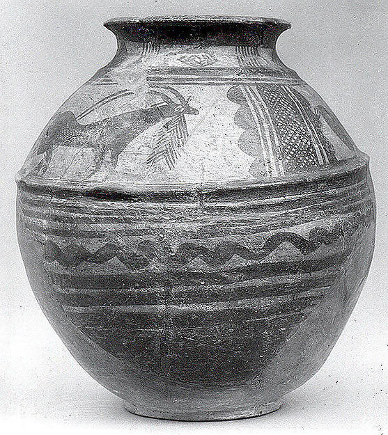 Jar with ibexes