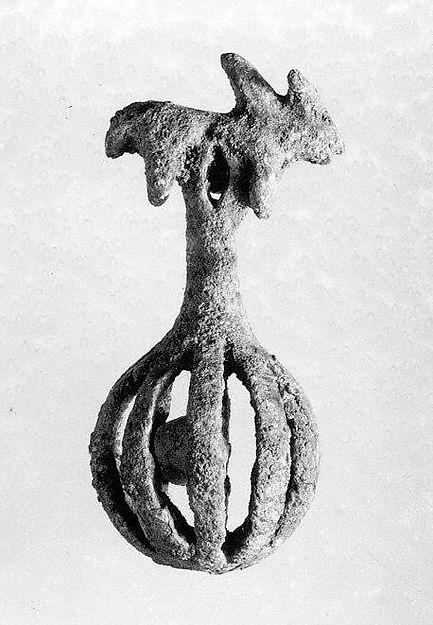 Openwork rattle bell