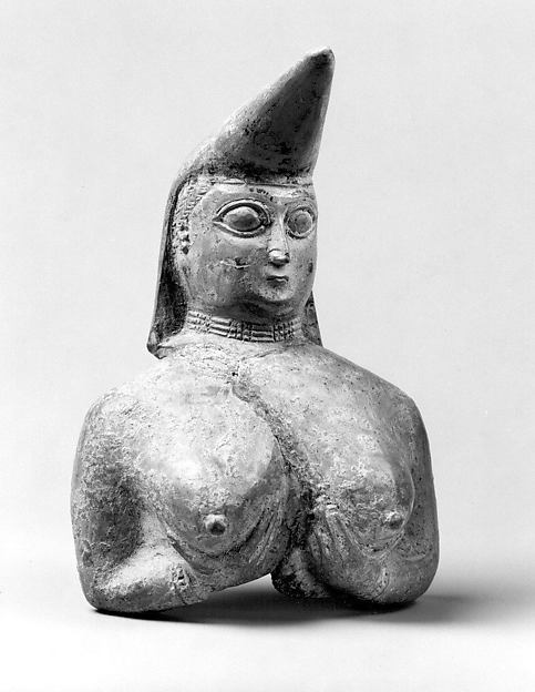 Vessel fragment in the form of a nude female