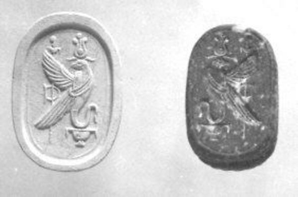 Scarab seal with human head
