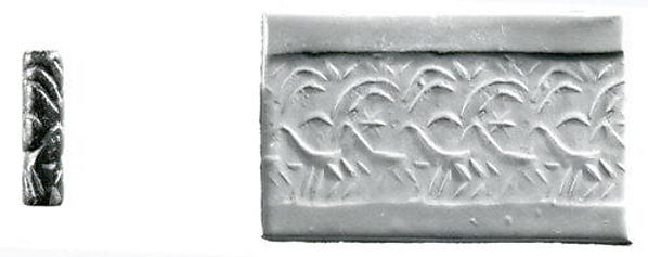 Cylinder seal and modern impression: two striding goats