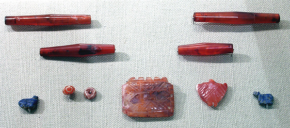 Pendant and beads