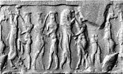 Cylinder seal with human and animal contests