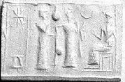 Cylinder seal with ritual scene