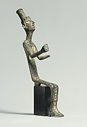 Figure of a seated goddess