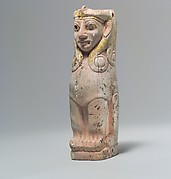 Furniture support: female sphinx with Hathor-style curls