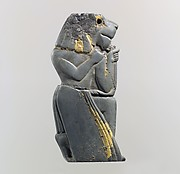 Plaque fragment: kneeling lion-headed figure