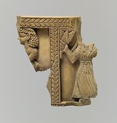 Cylindrical box fragment with female figures