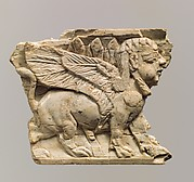 Plaque with striding sphinx