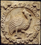 Wall panel with a guinea fowl